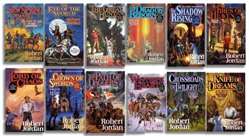 The Wheel of time series by Robert Jordan