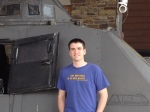 My nerdy guy in front of the TIV (tornado intercept vehicle) in Branson, MO