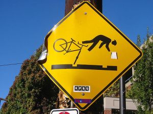 Bike Hazard Sign