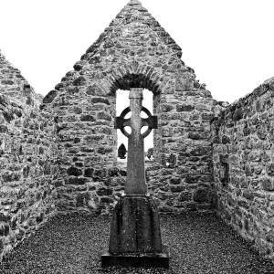 christ cross church ruin
