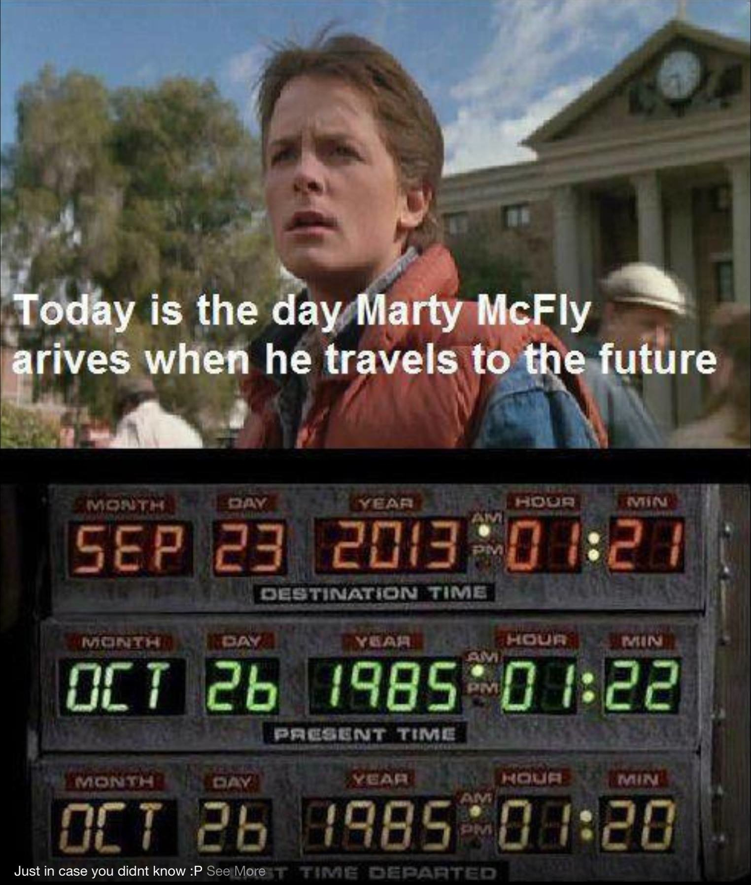 Marty mcfly future date in Sydney