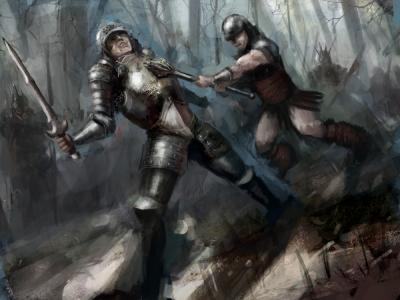 knights swordfight fantasy fiction