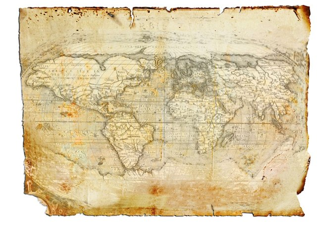Antique World Map by Roger Kirby-resized