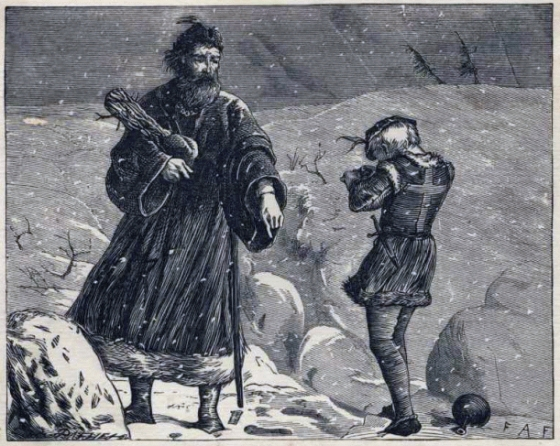 Engraving by Brothers Dalziel of Wenceslaus I, Duke of Bohemia, from an 1897 book of carols http://commons.wikimedia.org/wiki/File:Good_King_Wenceslas_10a.gif