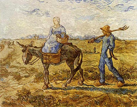 Peasant Couple Going to Work by Vincent van Gogh