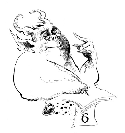 Illustration © 1979 by Papas, from The Screwtape Letters; Special Illustrated Edition
