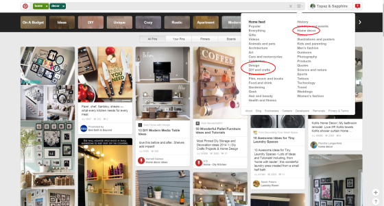 Pinterest-Home-Categories
