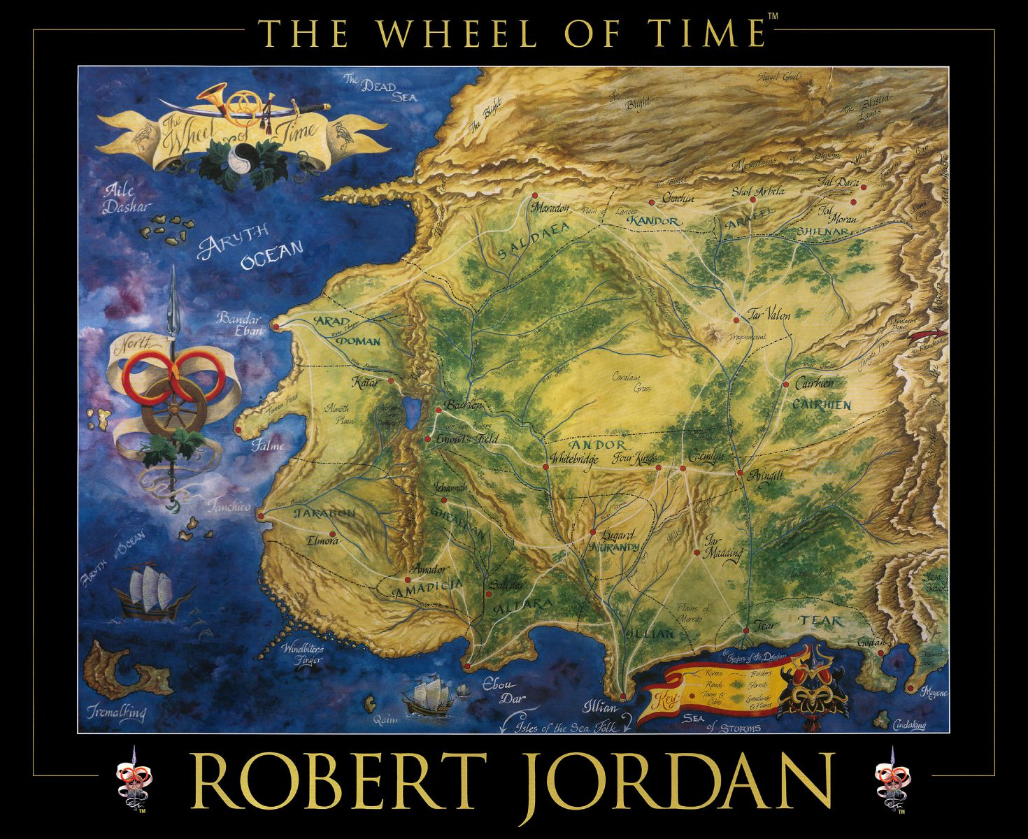 Wheel of Time Map | The New Authors Fellowship
