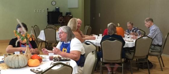 Friends having Thanksgiving Dinner