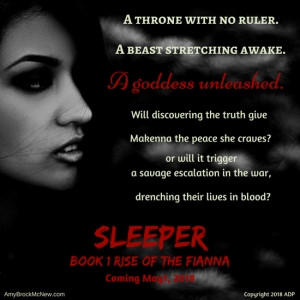 Ad for Sleeper, a novel by Amy Brock McNew