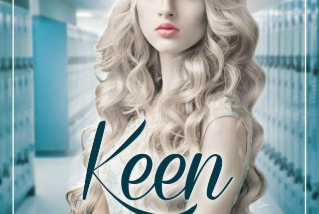 The cover of the novel Keen features a photo of a young woman.